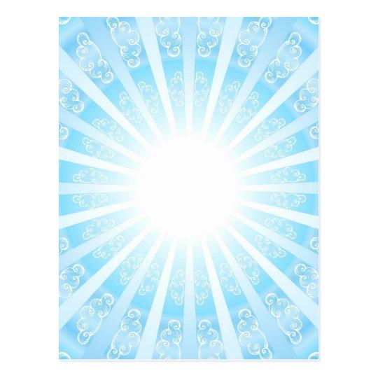 Himmels Tor, blau Postkarte