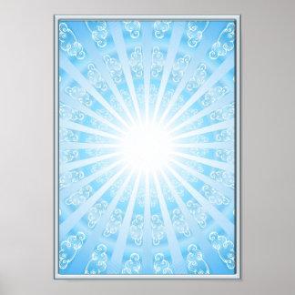 Himmels Tor, (S-XL), blau Poster