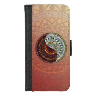 Himmels-und Höllen-Smartphone-Geldbörsen-Kasten iPhone 8/7 Geldbeutel-Hülle