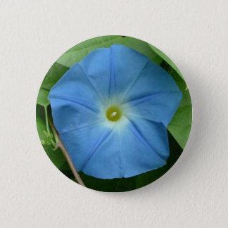 Himmlische blaue Winde Runder Button 5,7 Cm