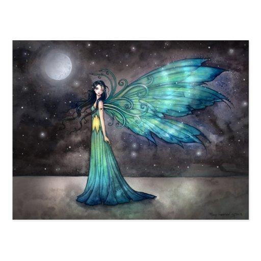 Himmlische Feen-feenhafte Fantasie-Kunst Aquamarin Postkarten