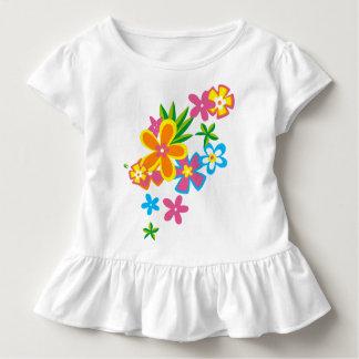 Himmlische Hula hawaiische Blumen-Mädchen Kleinkind T-shirt