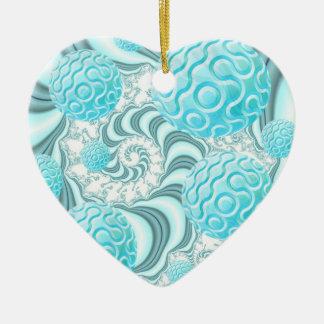 Himmlische Muscheln, abstrakter Pastellstrand Keramik Ornament