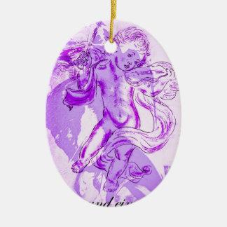 Himmlische Musik, Frohe Weihnachten Keramik Ornament