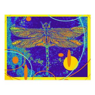 Himmlische mystische Goldlibelle durch Sharles Postkarte