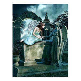 Himmlische Neugier-Postkarte