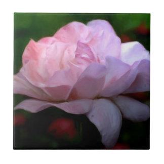 Himmlische rosa Rosen-Blumenkunst Fliese