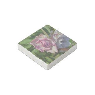 Himmlische Rose abstrakt Stein-Magnet