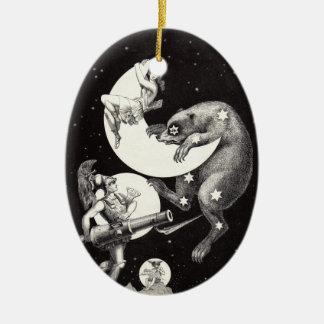 Himmlische Stern-Himmel-Mond-Illustrations-Grafik Keramik Ornament