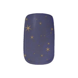 Himmlische sternenklare Nacht Minx Nagelkunst