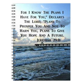 HIMMLISCHER JEREMIAS-29:11 SCRIPTURE-ENTWURF SPIRAL NOTIZBLOCK