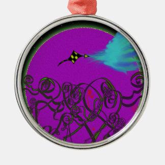 Himmlischer Kampf Silbernes Ornament
