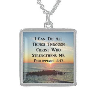HIMMLISCHER PHILIPPIANS-4:13 BIBEL-VERS STERLING SILBERKETTE