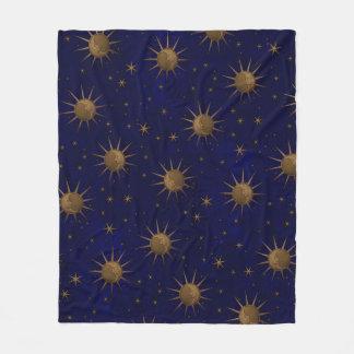 Himmlischer Sun-Mond-sternenklare Nacht Fleecedecke