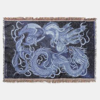 Himmlischer Tanz-Drache u. Phoenix-Wurfs-Decke Decke