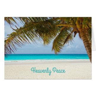 Himmlisches Friedenspalme-strandnahes Weihnachten Karte