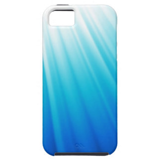 Himmlisches helles Ombre weißes Aquablau Tough iPhone 5 Hülle