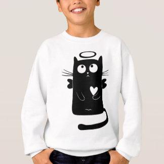 Himmlisches Katzen-Schwarzes Sweatshirt