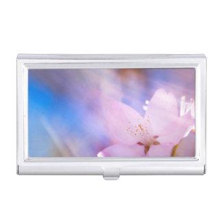 Himmlisches Licht der Kirschblüte Visitenkarten Dose
