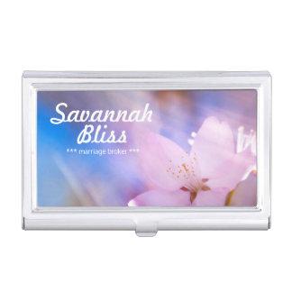 Himmlisches Licht der Kirschblüte Visitenkarten Etui