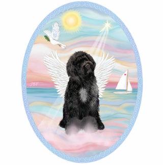 Himmlisches Meer - portugiesischer Wasser-Hund #8  Freistehende Fotoskulptur