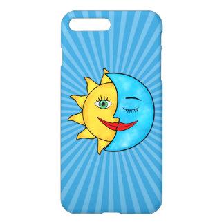 Himmlisches Thema der Sun-Mondsolarstrahlen iPhone 8 Plus/7 Plus Hülle