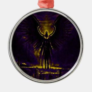 Himmlisches Wächter-Gelb und lila Silbernes Ornament