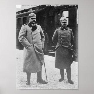 Hindenburg und Ludendorff Plakatdruck