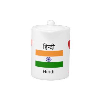 Hindi-Sprache und Indien-Flaggen-Entwurf