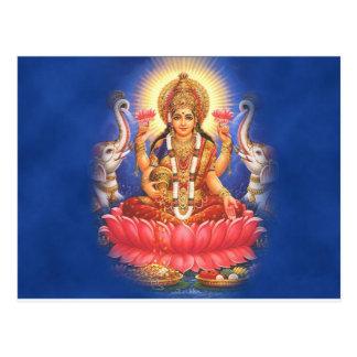 Hindische Göttin Laxmi Devi Mata Postkarten