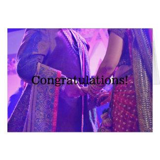 Hindische Heirat-Glückwunsch-Karte Grußkarte