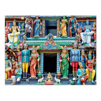 Hindischer Tempel wenig Indien Singapur Postkarte