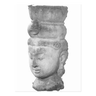 Hindisches Skulptur-Artefakt Postkarte