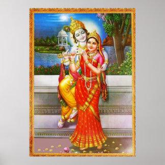 Hingabe zu Radha Krishna Poster