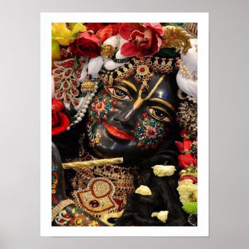 Hingabe zu Radha Krishna Plakatdruck