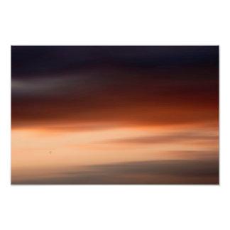 Hinten am Horizont Fotodruck