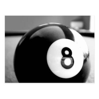 Hinter dem 8-Ball Ball acht Postkarte