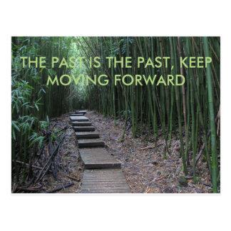 Hinter ist die Vergangenheit, sich bewegen Postkarte