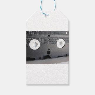 Hintere Ansicht einer überholten Videokassette des Geschenkanhänger