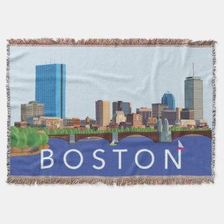 Hintere Bucht-Boston-Skyline-Computer-Illustration Decke