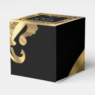 Hintere, goldene Hochzeit Fleur de Lys Geschenkkartons