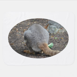 hinteres Ansichttier des Wallaby Babydecke