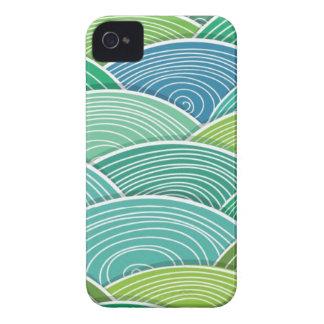 Hintergrund der gekräuselten abstrakten grünen Case-Mate iPhone 4 hülle