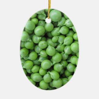 Hintergrund der grünen Erbse. Beschaffenheit der Keramik Ornament