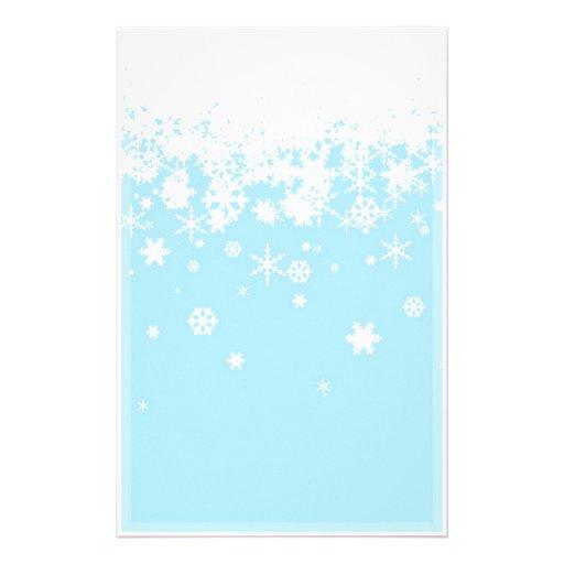 hintergrund der schneeflocken wei es blaues bedrucktes. Black Bedroom Furniture Sets. Home Design Ideas