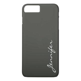 Hintergrund der schwarzen Olive Farb iPhone 8 Plus/7 Plus Hülle