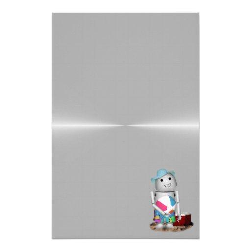 Hintergrund des Strand-verklemmter voller MetallRo Personalisierte Druckpapiere