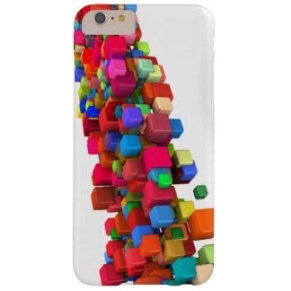 Hintergrund-Entwurf mit bunten Regenbogen-Blöcken Barely There iPhone 6 Plus Hülle