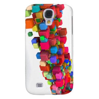 Hintergrund-Entwurf mit bunten Regenbogen-Blöcken Galaxy S4 Hülle