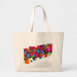 Hintergrund-Entwurf mit bunten Regenbogen-Blöcken Jumbo Stoffbeutel